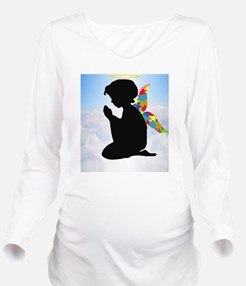 Autism Angel Long Sleeve Maternity T-Shirt