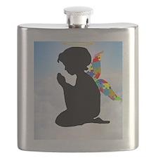 Autism Angel Flask