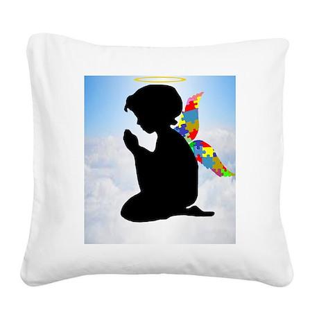 Autism Angel Square Canvas Pillow