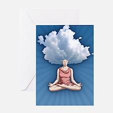 cloud-head-CRD Greeting Card