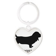 BBR and Dog Sillouette - Black for  Heart Keychain