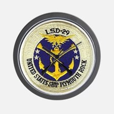 uss plymouth rock patch transparent Wall Clock
