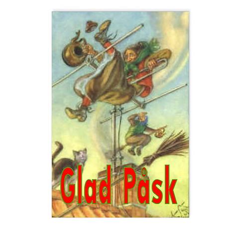 Glad Påsk 10 Postcards (Package of 8)