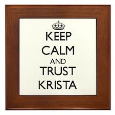 Keep Calm and trust Krista Framed Tile