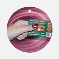 Personal ID card Round Ornament