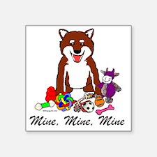 """Shiba Mine Square Sticker 3"""" x 3"""""""