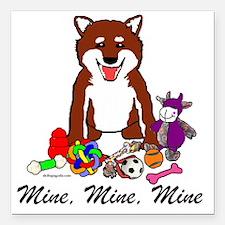 "Shiba Mine Square Car Magnet 3"" x 3"""