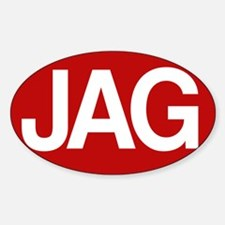 Jag1 rd for yllw Sticker (Oval)