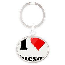I Heart Love Tuscon Oval Keychain