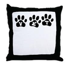 Vet Paw Prints Throw Pillow