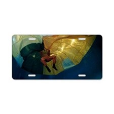 Parachute water landing tra Aluminum License Plate