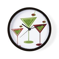 Martini Glasses Wall Clock