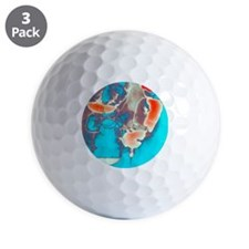Coloured barium X-ray of an inguinal he Golf Ball