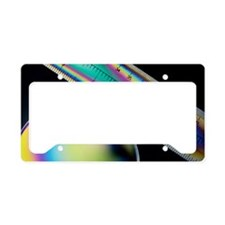 Coloured light interference p License Plate Holder