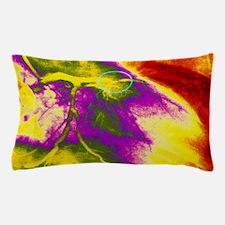 Colour angiogram of left coronary arte Pillow Case