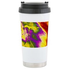 Colour angiogram of left corona Travel Mug