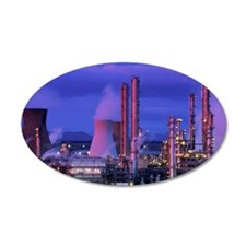 Petrochemical plant Wall Decal