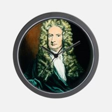 Coloured engraving of Isaac Newton Wall Clock
