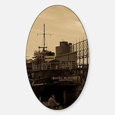 Daniel McAllister Tugboat Sticker (Oval)