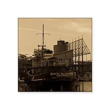 "Daniel McAllister Tugboat Square Sticker 3"" x 3"""