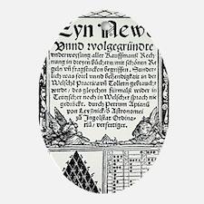 Petrus Apianus's Pascal's Triangle,  Oval Ornament