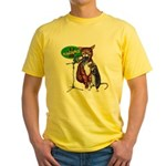 Karaoke Cat, Rat, Frog Yellow T-Shirt