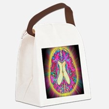 Coloured MRI scan of organophosph Canvas Lunch Bag