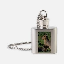 Patagonian cavy and young Flask Necklace