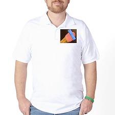 Coloured SEM of blood pressure monitor  T-Shirt