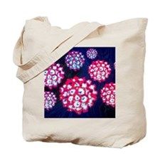 Coloured TEM of Papilloma viruses Tote Bag