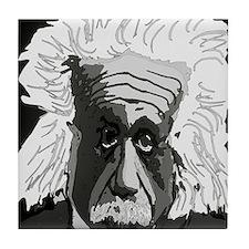 Computer artwork of Albert Einstein Tile Coaster