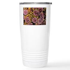 Coloured SEM of mitochondria in Travel Mug