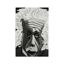 Computer artwork of Albert Einste Rectangle Magnet