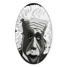 Computer artwork of Albert Einstein Decal