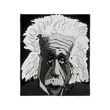 Computer artwork of Albert Einstein Throw Blanket