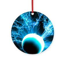 Plasma globe Round Ornament