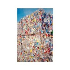 Plastic recycling Rectangle Magnet