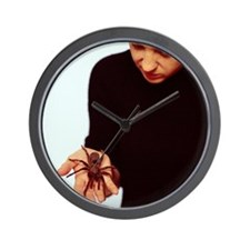 Pet tarantula Wall Clock