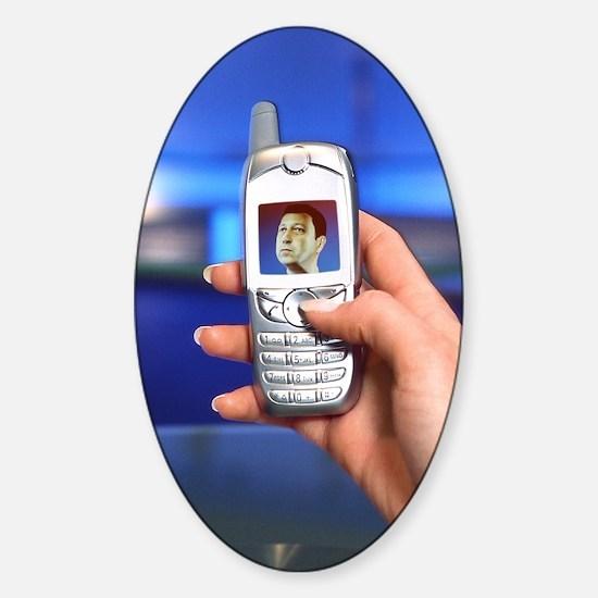 Personalised virtual avatar Sticker (Oval)
