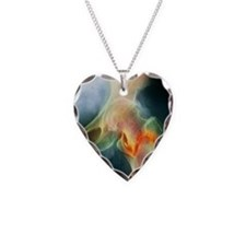 Coloured X-ray of femur fract Necklace