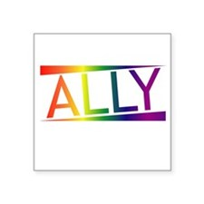 "Straight Allies for Marriag Square Sticker 3"" x 3"""