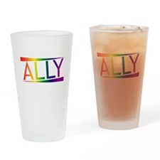 Straight Allies for Marriage Equali Drinking Glass