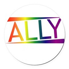 Straight Allies for Marriage Equa Round Car Magnet