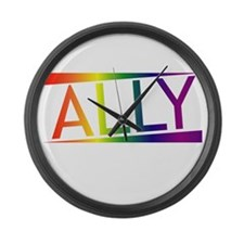 Straight Allies for Marriage Equa Large Wall Clock