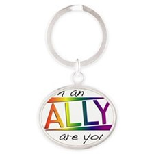 Straight Allies for Marriage Equalit Oval Keychain