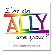 """Straight Allies for Marr Square Car Magnet 3"""" x 3"""""""