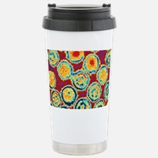 Coloured TEM of Epstein-Barr vi Travel Mug