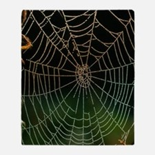 Photo of a web of Araneus diadematus Throw Blanket