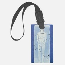 Computer artwork of woman's shat Luggage Tag