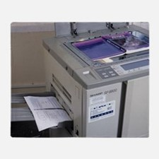 Photocopier Throw Blanket